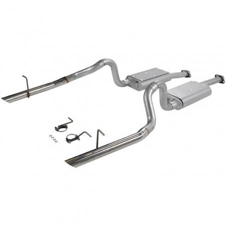 Flowmaster Force II Catback 2.5 w/SS Tips, 1994-98 Mustang