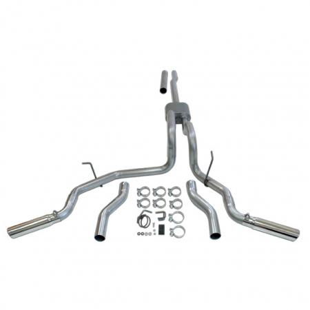 Flowmaster Force 2 exhaust, dual side or rear, stainless, 04-08 F150