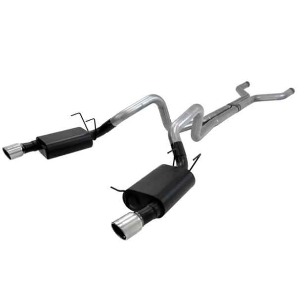 Flowmaster A.T. Exhaust system, 3 stainless, 2013-14 Mustang GT, GT500