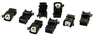 Fuel Injector adapters, new style injector to old harness