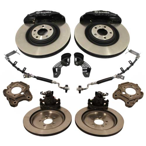 FORD RACING SIX PISTON 15-INCH BRAKE UPGRADE KIT, 2005-14 Mustang