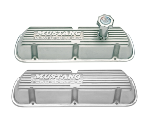 Ford Performance Mustang Valvecover, Polished Aluminum, 5.0 EFI