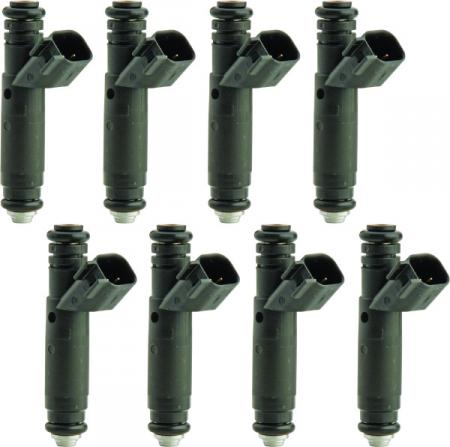 Ford Performance 47lb fuel injectors (8), EV6 oval plug
