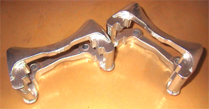 Caliper brackets for rear of 2005-09 Mustang, ceramic coated