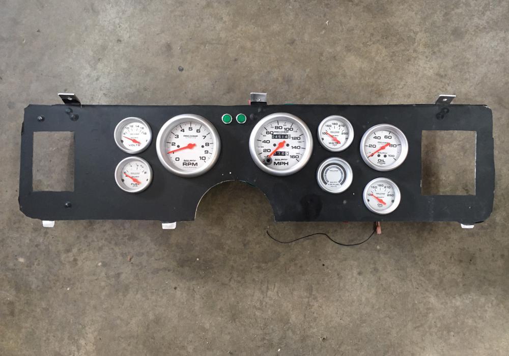 Auto Meter Gauge Panel, Ultra-lite Gauges, 1979-86 Mustang Panel