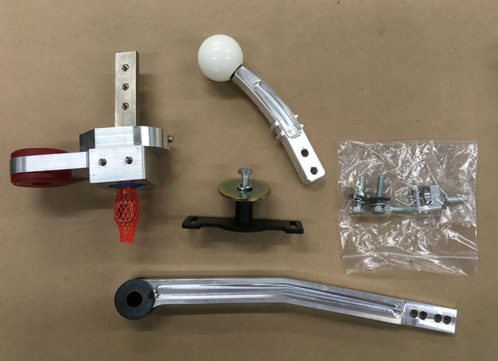 Steeda Tri-ax Shifter w/ Exposed Hand and White Knob, 2005-09 Mustang GT (USED)