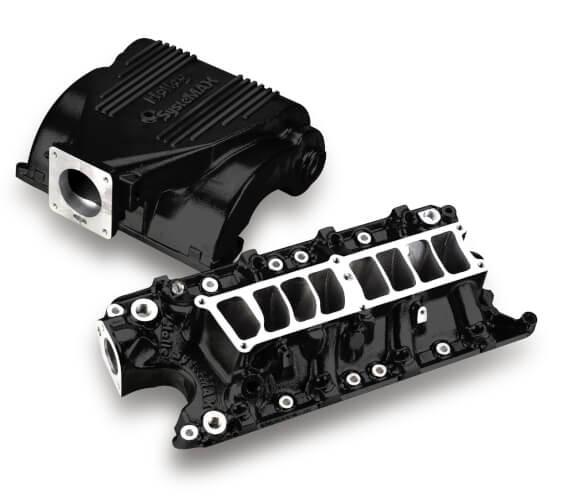 Holley Systemax Intake Manifold, Black Ceramic, 86-93 Mustang 5.0