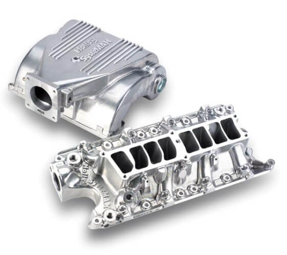 Holley Systemax Intake Manifold, Shiny finish, 86-93 Mustang 5.0