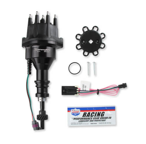 Holley Sniper EFI distributor, All Black, 289/302 cast gear