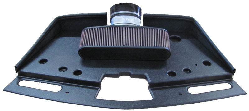 high velocity cold air intake in car