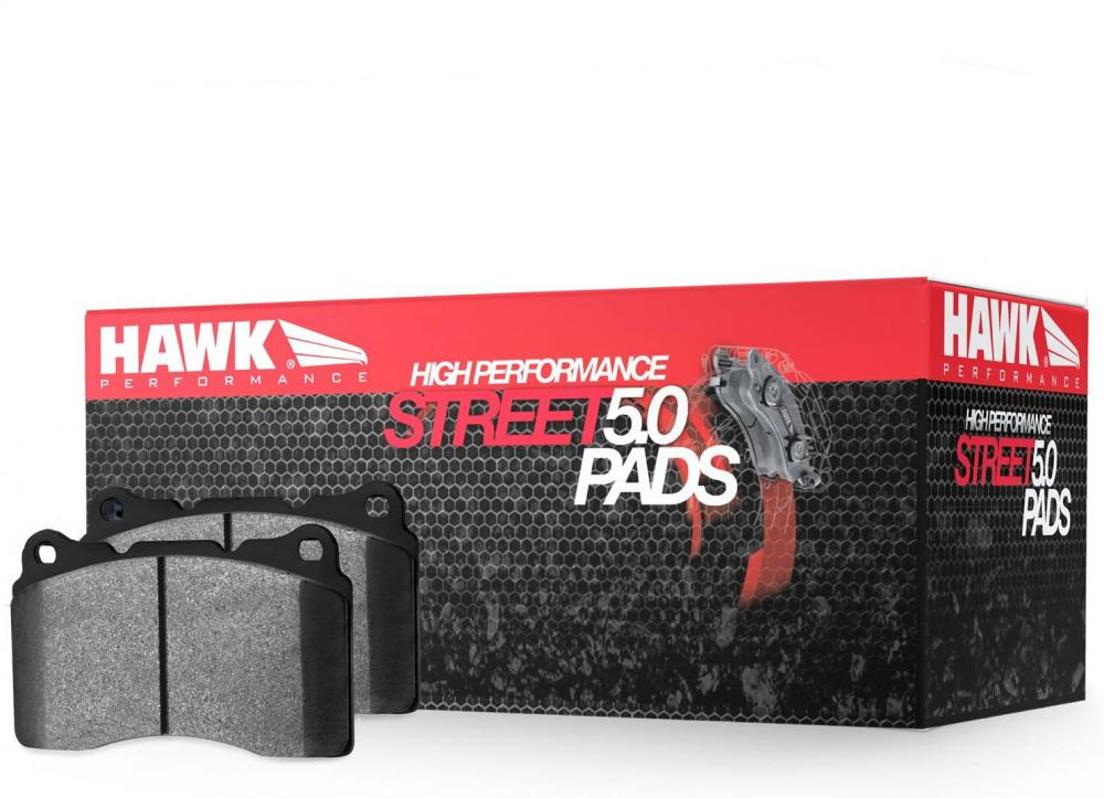 Hawk Street 5.0 Brake Pads, Brembo front calipers, Mustang and GT500