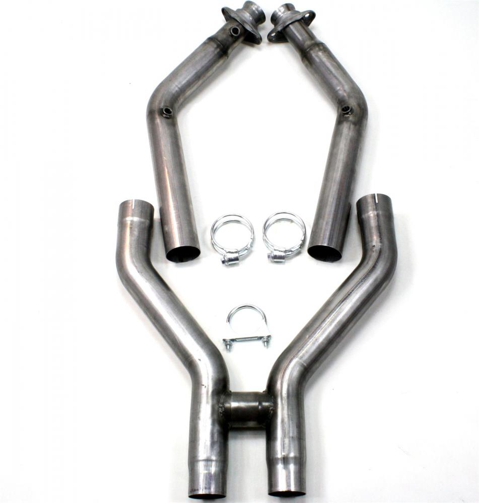 JBA 3 Off-road H-pipe, stainless, 2011-2014 GT500