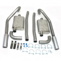 JBA Stainless Steel Exhaust System, 2.5 inch, 1967-70 Mustang