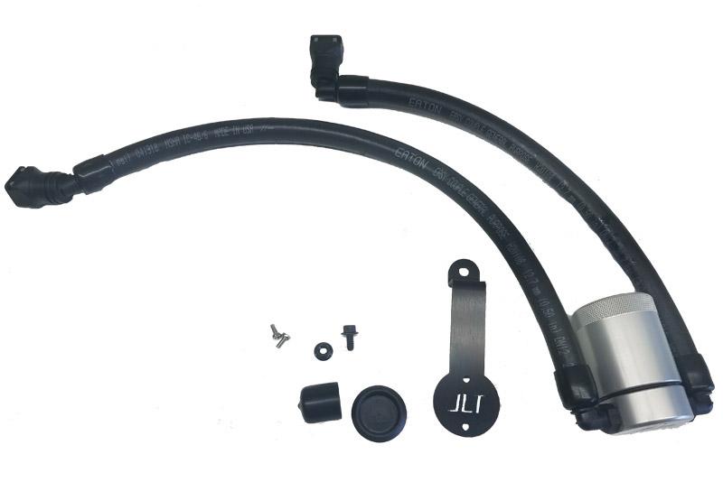 JLT Oil Separator 3.0 Driver Side, Clear Anodized 2018+ Mustang GT/Bullitt