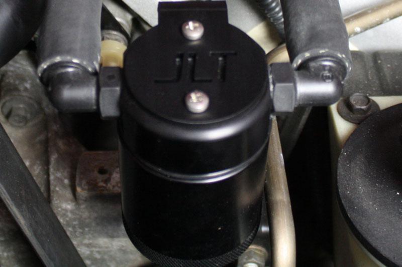 JLT Oil Separator 3.0 Driver Side, Black Anodized, 1996-2004 SVT Cobra