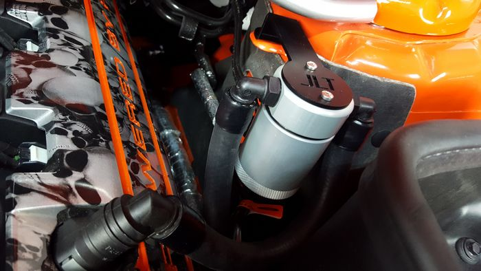 JLT Oil Separator 3.0 Driver Side, Clear Anodized 2011-17 Mustang GT/BOSS