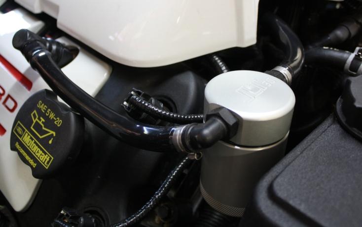 JLT Oil Separator 3.0 Passenger Side, Clear Anodized 2011-17 Mustang GT/BOSS