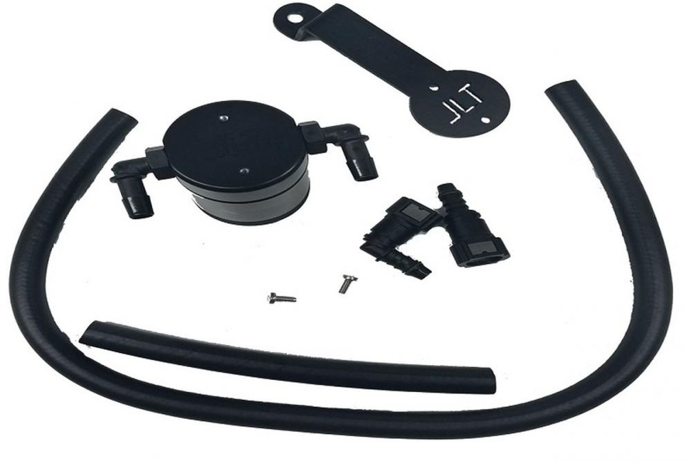 JLT Oil Separator 3.0 Passenger Side, Black Anodized, 2005-10 Mustang GT