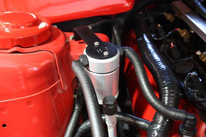 JLT Oil Separator 3.0 Passenger Side, Clear Anodized, 2005-10 Mustang GT