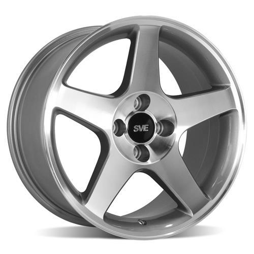 SVE 03 Cobra Wheels machined, 17x9, 4 bolt