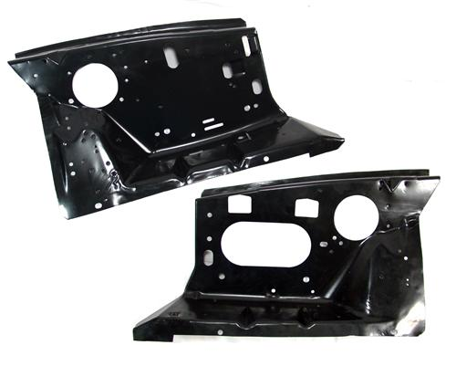 1979-93 Mustang Front Fender Apron Pair, Factory Holes