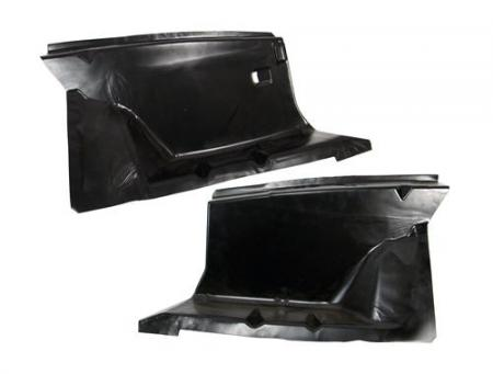 1979-93 Mustang Front Fender Apron Pair, Completely Smooth - No Holes!