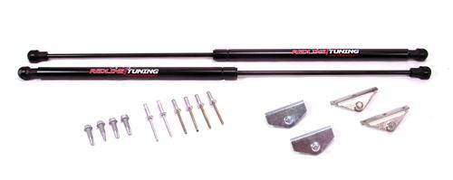 Redline Hood struts, Quicklift, 2005-09 Mustang
