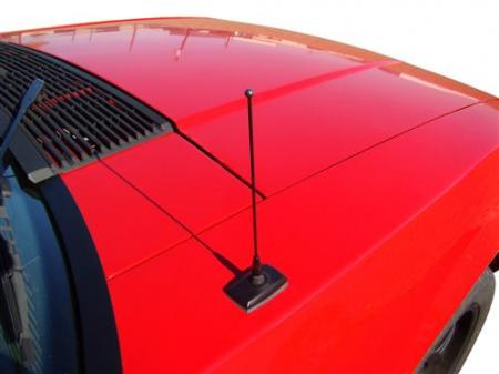 LRS Shorty 8 Antenna, black, 79-09 Mustang