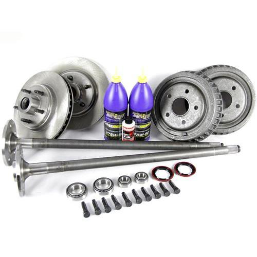 LRS 1987-93 Mustang Complete 5-Lug Conversion Kit with 28 Spline Rear Axles