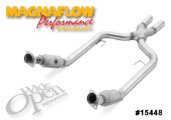 Magnaflow X-pipe with cats, 2005-09 Mustang