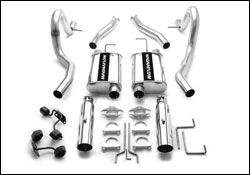 Magnaflow 2.5 Exhaust Kit, w/ 3.5 SS Tips, 1994-98 Mustang and Cobra