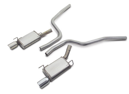 Magnaflow Cat-back exhaust system, 2.5 stainless, 2005-09 Mustang, GT500