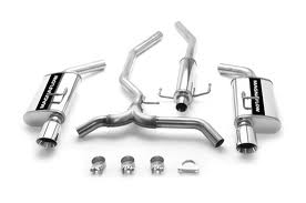 Magnaflow Stainless Exhaust, 05 + Fusion Sedan Dual rear exit