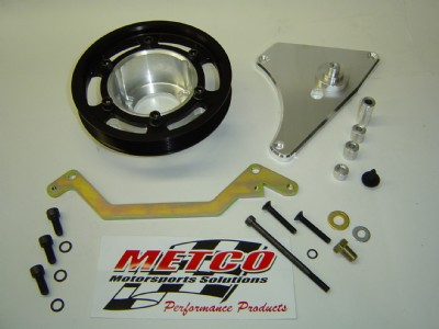 Metco Interchangeable crank shaft pulley kit, 03/04 Cobra choose 2,4,6
