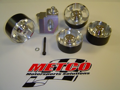 Metco Idler pulley and bracket kit, 5 piece, 03-04 Cobra