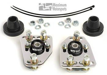 Maximum Motorsports Camber/Caster plates, 79-89 Mustang, Chrome