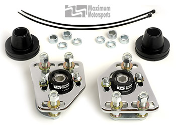Maximum Motorsports Camber/Caster Plates, 90-93 Mustang, Chrome