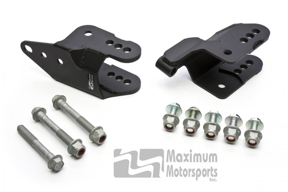 Maximum Motorsports Rear control arm relocation brackets, 2005-14 Mustang