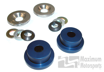 Maximum Motorsports rack bushings, spherical, 84-04 Mustang
