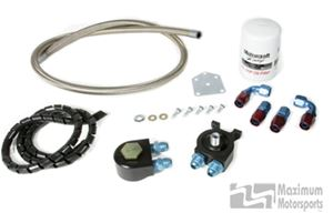 Maximum Motorsports Oil filter relocation kit, 96-03 mod motor, severe