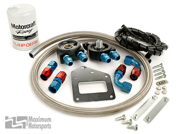 Maximum Motorsports Oil Filter relocation kit, severe duty, 03/04 Cobra