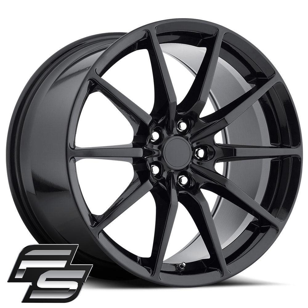 MRR M350 Wheels, 19x11, Black, 2005+ Mustang