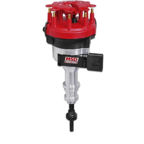 MSD Billet Distributor TFI, 351W steel gear roller cam