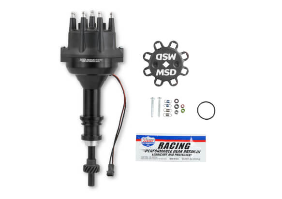 MSD Distributor Ford 351w, Pro Billet, Small Cap, All Black, Steel Gear