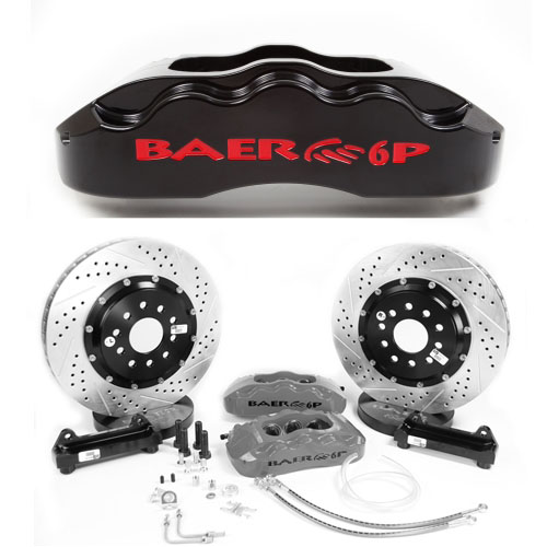 Baer Pro+ 14, Front, 1964-1989 GM A/F/G/X-Body, 6P Black