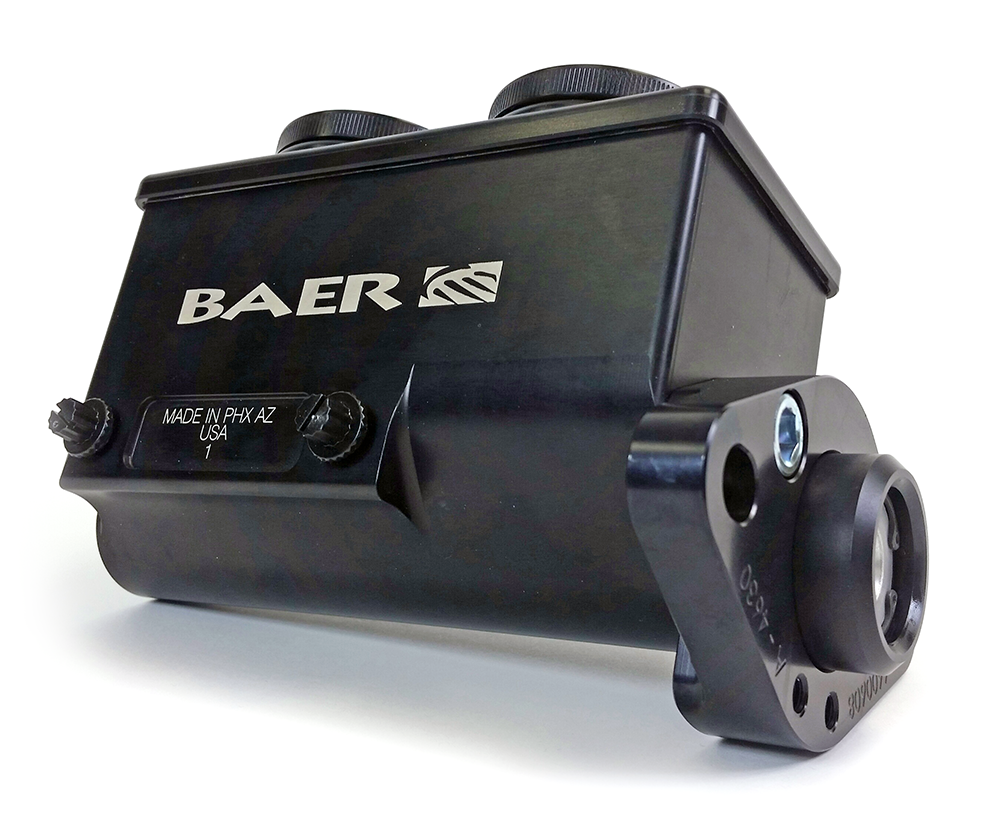 Baer ReMaster Master Cyl Assembly, black anodized,1-1/8 bore,left port