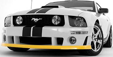 Roush Chin Spoiler Kit, Unpainted, ROUSH Front Fascia, 2005-2009 Mustang 4.6L