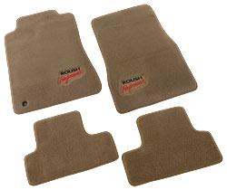 Roush Floor Mat Set, Front and Rear, Tan, 2005-2009 Mustang