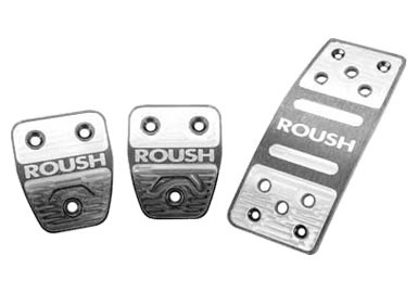 Roush Billet Pedal Kit, Manual Transmission, 2005-2010 Mustang 4.0/4.6L