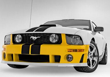 Roush Front Fascia Kit, Unpainted, 2005-2009 Mustang 4.6L